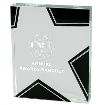 "GS45 - Glass Star Award - 4-1/2""x5-1/2"""
