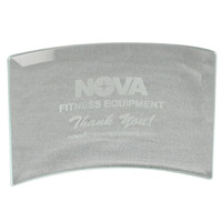 "Clear Beveled Glass Crescent Award w6""x4"""