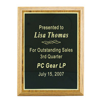 Classic Oak Finish Plaque