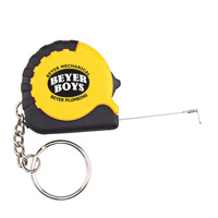 Tape Measure 3ft w/Black Rubber/Keyring