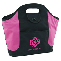 Pink Accented Cooler Tote