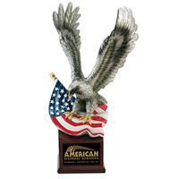 Landing-Eagle-with-US-Flag-on-Resin-Base