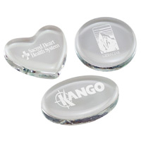 Glass Paperweights - Engraved